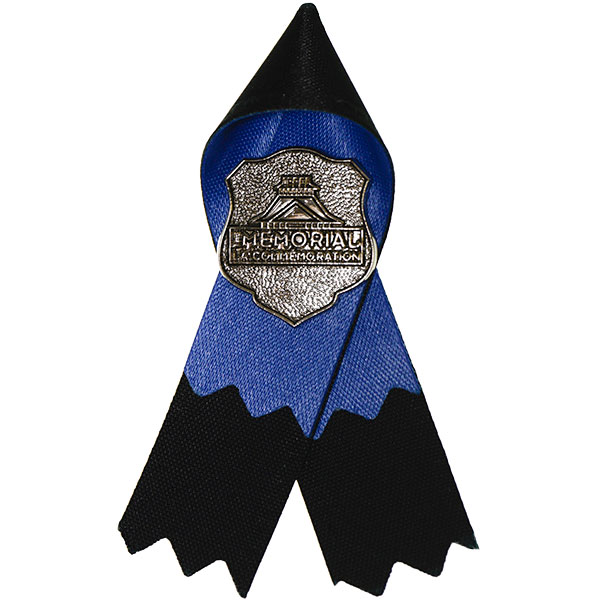 The Police And Peace Officers Memorial Ribbon Has Gone Through Very Little Change Since It Was Created In 1994 Is Blue Over Black Looped At